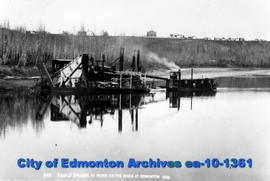 Gold Dredge on River at Edmonton