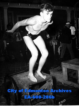 Provincial Swimming Championships at the West End Swimming Pool: Pat Malcolmson, winner of the 10...