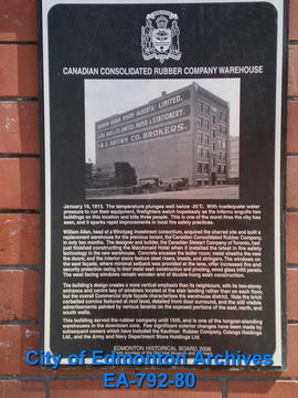 EHB Plaque for Canadian Consolidated Rubber Co. Building