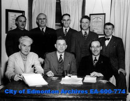 Members of the executive of the Edmonton Trades and Labour Council: (L-R, B-T) Herbert G. Turner,...