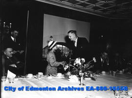 "Special luncheon at the Macdonald Hotel for The Edmonton Bulletin's ""Know Your Alberta"" contest w..."