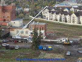 Demolition of Molson's Building - Removing Beams - Image 8 of 10