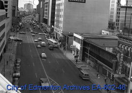 Jasper Avenue looking west from 99 Street