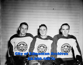 Three players from Edmonton Juniors; Waterloo Maple Leafs.