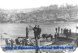 Men on North Saskatchewan River
