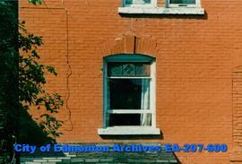 Architectural detail of window in brick building located at 10734  92 Street.