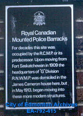EHB Plaque for the Royal Canadian Mounted Police Barracks