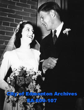 Mrs. and Mr. William Duffied Pettinger, newlyweds, Edmonton.