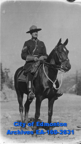 Royal Canadian Mounted Police Officer on a horse.