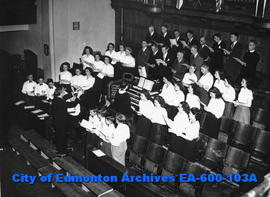 All Saint's Cathedral choir performing at McDougall United Church, Alberta Musical Festival, Edmo...