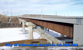 Anthony Henday Bridge, with view of pedway below