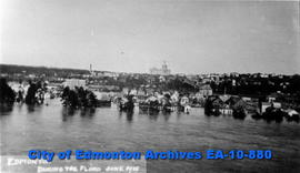 Edmonton During the Flood of the North Saskatchewan River