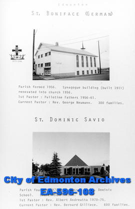 St. Boniface German and St. Dominic Savio Catholic Churches Poster