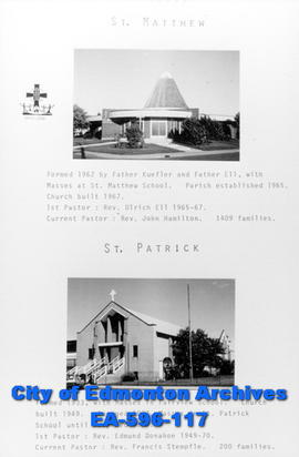 St. Matthew and St. Patrick Catholic Churches Poster