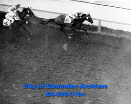 Opening day at the Edmonton Exhibition grounds track.