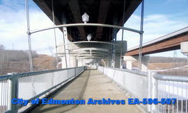 Anthony Henday Bridge, pedway below bridge deck