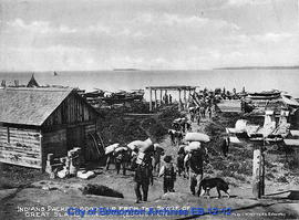 Indians Packing Goods up from the Shore of Great Slave Lake at Resolution