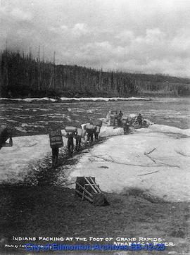 Indians Packing at the Foot of Grand Rapids, Athabasca River