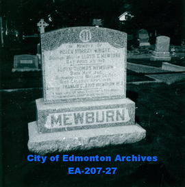 Gravestone - Henry Mewburn and Lloyd Mewburn