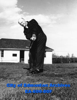 "A. J. ""Johnny"" Munro, 1946 president of the Alberta Golf Association at Mayfair Golf Club."