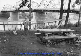 J.W. Sherwin with York Boat Replica