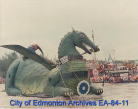 Desmond the dragon Sourdough Raft Race 1986