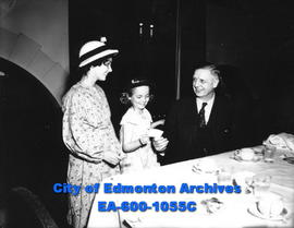 "Special luncheon at the Macdonald Hotel for The Edmonton Bulletin's ""Know Your Alberta""..."
