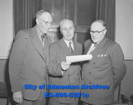 Cattle and Horse Breeders' Association meeting. (L-R) Roy Ballhorn, A.J. Dexter, who gave a ...