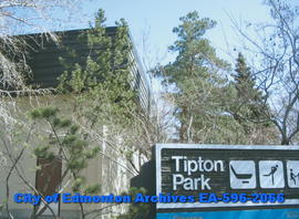 Tipton Arena - Park sign