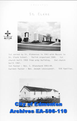 St. Clare Catholic Church Poster