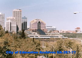 Edmonton skyline - Canada Place and the Edmonton (later Shaw) Convention Centre