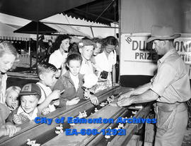 A booth on the midway at the Camrose Annual Fair.
