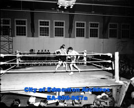 Provincial amateur boxing finals: (L-R) Mike Redin and Jim Neilson .