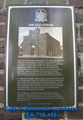 EHB Plaque for The Old Citadel