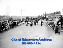 The Lord Strathcona's Horse and Princess Patricia's Light Infantry regiments parade through Edmon...