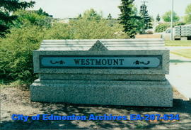Westmount neighbourhood sign