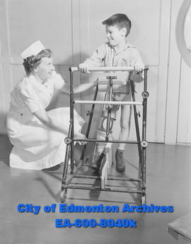 Various shots of patients at Calgary Red Cross Hospital.
