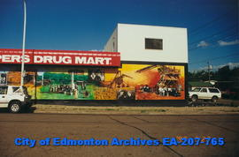 Beverly Shoppers' Drug Mart decorated with murals.