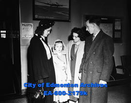 O'Driscoll family at the Edmonton Airport.