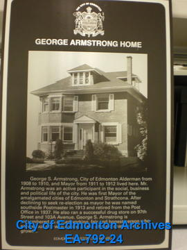 EHB Plaque for George S. Armstrong Residence