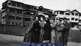Edmonton Grads In Front Of Tranquille Sanatorium