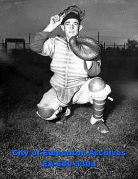 Baseball player from South Side junior team: catcher Bob Coughlin.