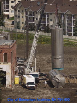 Demolition Of Molson's Building - Removal Of Tanks