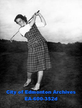 Edmonton Ladies' Golf Championship at Highlands Club: Mrs. George Manning.