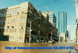 The Edmonton Journal Building - new construction next to old building.