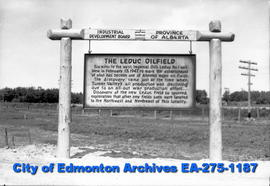 Sign - Leduc Oilfield historic marker