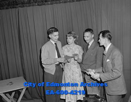 Catholic Drama Guild actors. L-R: Jim Bresden, Janette Bresden, Cliff Dalsin and Pat Gaudet.