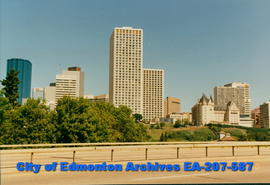 Edmonton's skyline - from James Macdonald Bridge