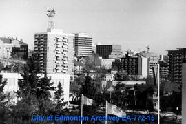 Edmonton -  Downtown from the Legislature Grounds.