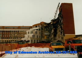 Demolition of old Glenrose Hospital - detail